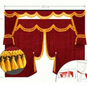Перетяжка салона, пошив чехлов - занавес  и шторки