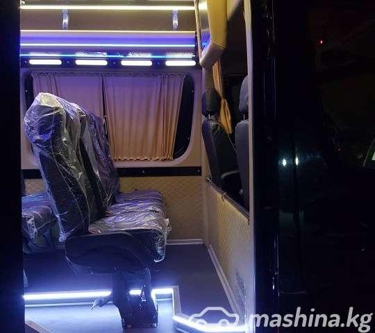 Перетяжка салона, пошив чехлов - Переоборудование микро автобусов
