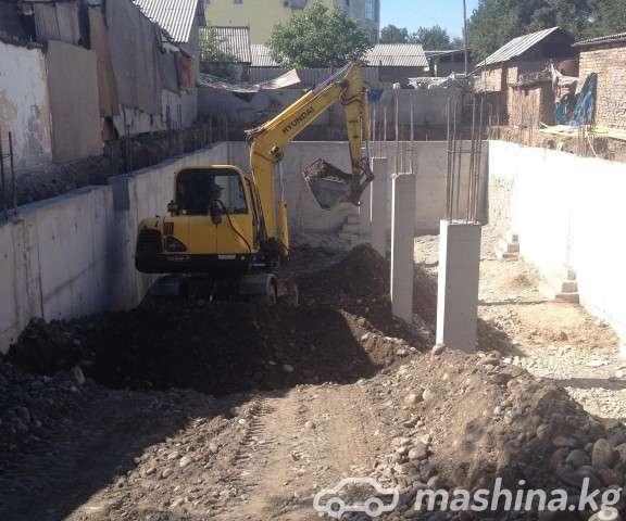 Прокат, аренда - Услуги Экскаватора в Бишкеке HYUNDAI 555W-7